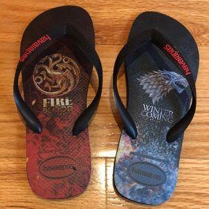 Havaianas GameofThrones flip flops 11/12W or 9/10M